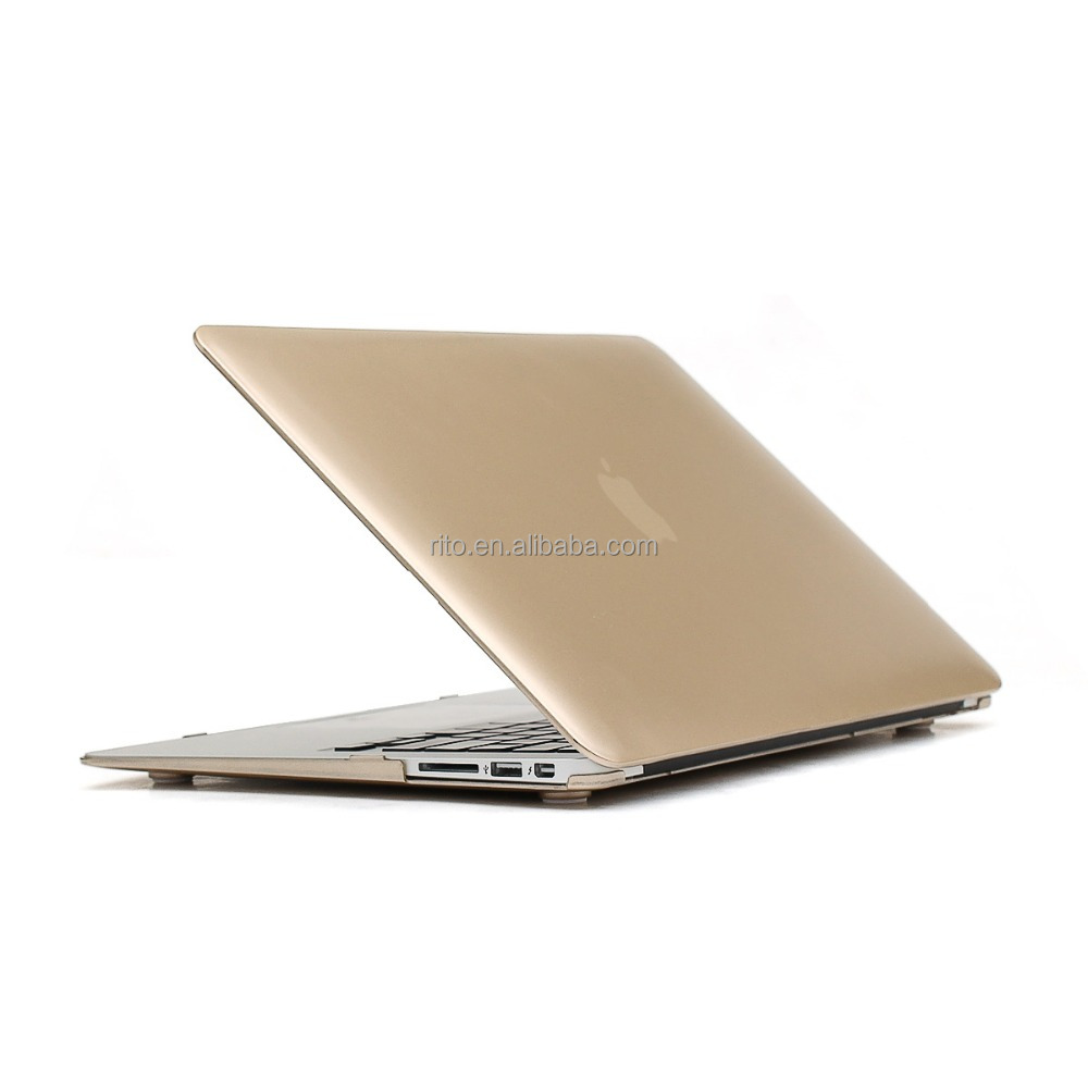 For Custom Metal Gold PC Tablet Case, For Macbook Air 11 Inch Hard Case