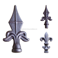 wrought iron spears steel forged spearhead fence railing tops casting finials
