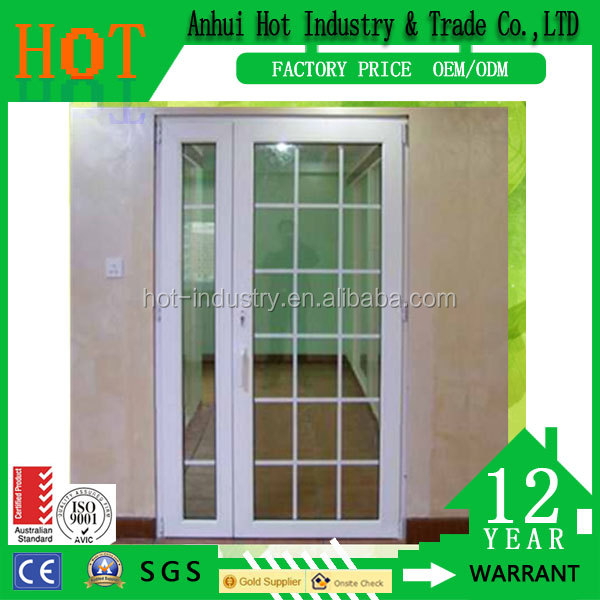 China factory aluminium doors and windows grill design with fiberglass window screen balcony fence cover window grill designs