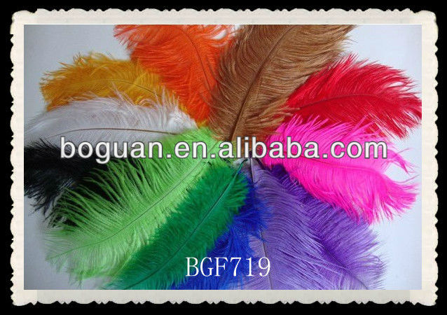artificial ostrich feather white