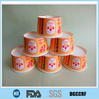 new design frozen yogurt paper cup, color printed ice cream paper cup lid