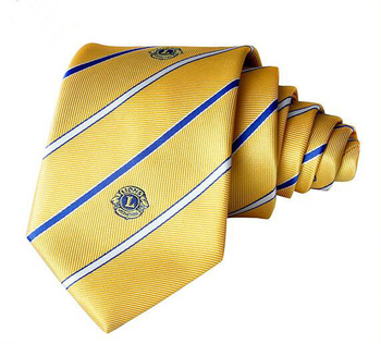 wholesale fashion custom men silk tie with embroidery logo