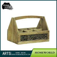 Primitive Delicate Farmhouse Vintage Garden Flower Wood Basket