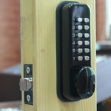 High security mechanical combination code door lock with knob switch opening and bottom push type