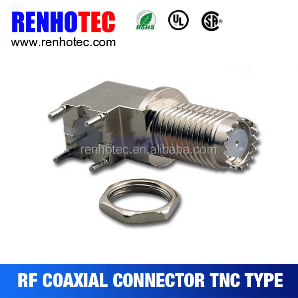 Best Hot Dosin TNC right angle pcb mount 90 degree tnc connector