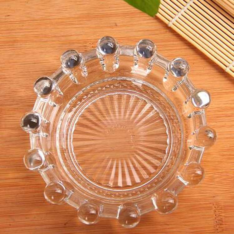 Wholesale promotion beautiful round crystal glass ashtray for home decoration