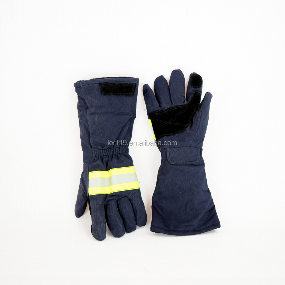 Navy blue fire retardant fabric new Cotton fabric Fire safety gloves