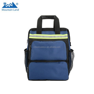 Fashion Wide Mouth top tool backpack electrician Work backpack tool bag kit  with safe reflective patches edc8267f12