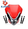 Street Fighter Head Light Fairing For Dirtbike Motorcycle led headlight Naked Street Bike Motocross RED