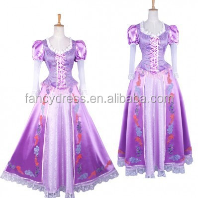 Rose Team Free Shipping Custom made Ball Gown Costume Victorian Green Dress with a Hat