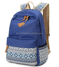 fashional floral canvas backpack school for teenage girls bags