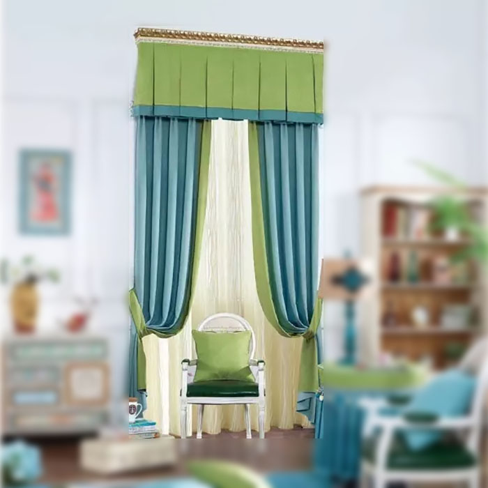 Luxury spain drapery curtain fabric modern spanish european style small broken flower drapery curtains for your warm home