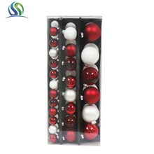 Hot Selling xmas ball/christmas tree ball hanging ornaments for Christmas tree