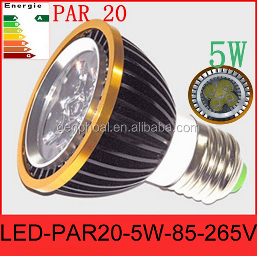 2016 Best price OEM/ODM 5W rgb par20 led bulb