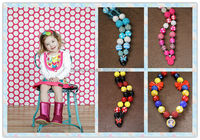 Big sale Minnie/ Mickey Mouse children chunky bubble gum necklace kids girl chunky beads necklace/bracelet set !!!