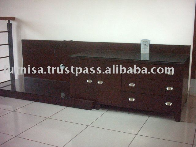 Wooden tv cabinet with drawer