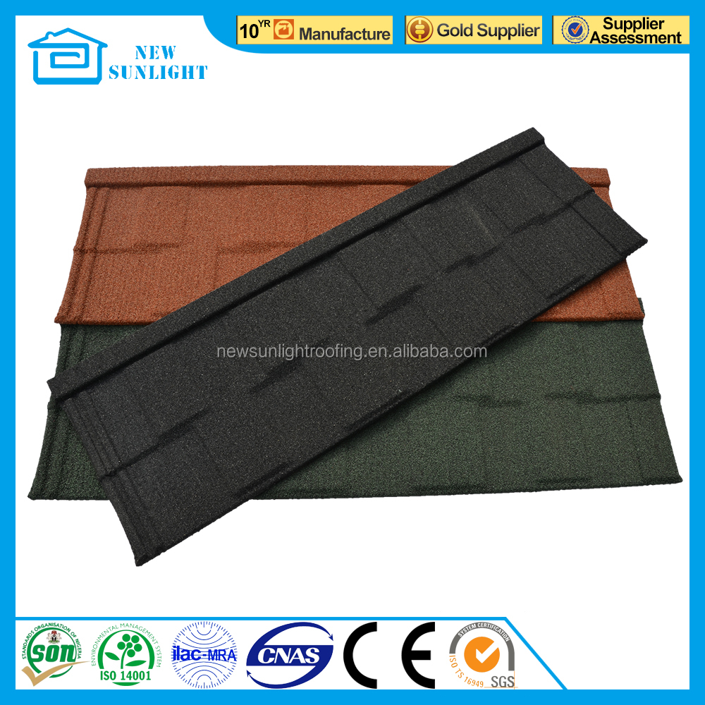 metal building materials high quality corrugated stone coated roofing tiles manufacturer