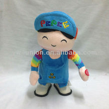 B/O Mechanical Turkey Cartoon Plush Music Singing and Walking Pepe
