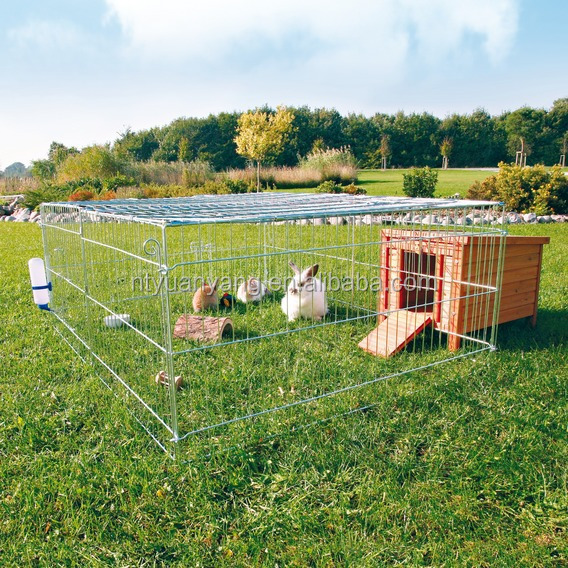 outdoor galvanized folding rabbit cage rabbit hutch for sale manufacturer
