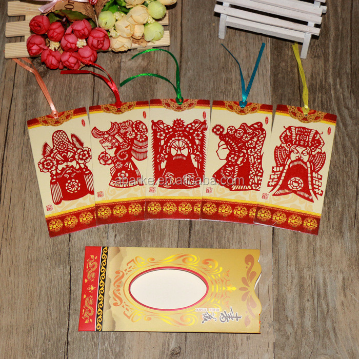 Handmade Paper Cutting Out Beijing Opera Facial Masks Chinese Bookmarks