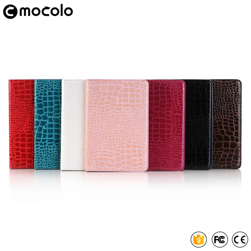 Customized Best Mocolo Grain Table full cover flip pu leather wallet stand tablet case for ipad pro case 9.7