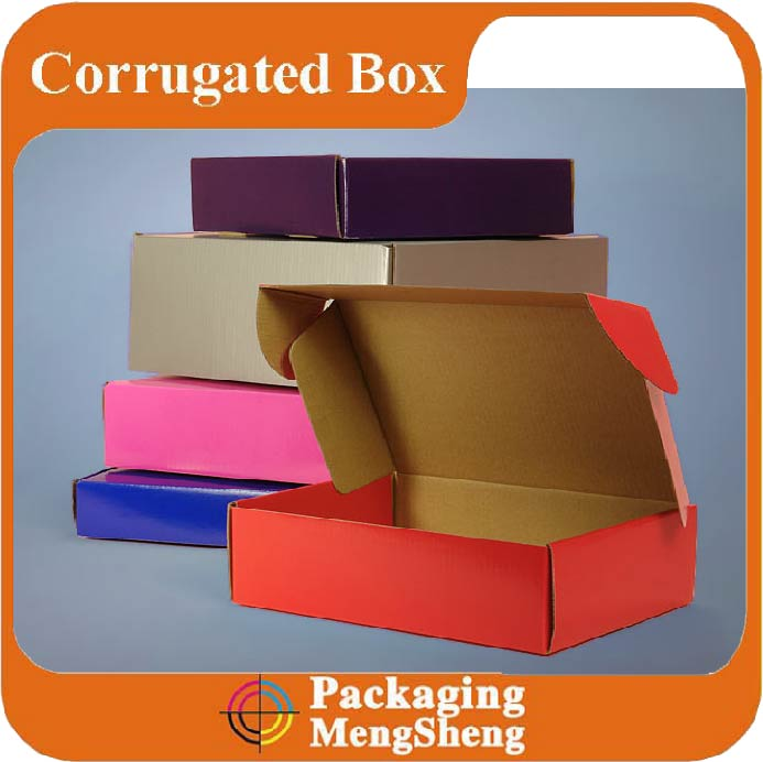 Custom printed paper packaging corrugated box for shoes mailing