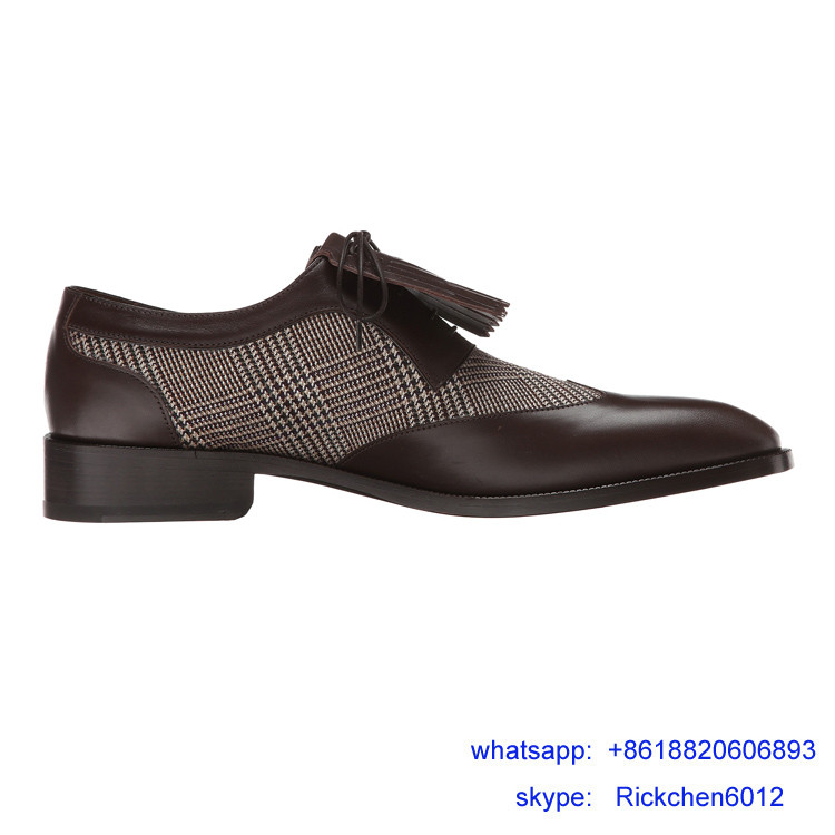Dark Brown Mens Leather Tassel Dress Shoe