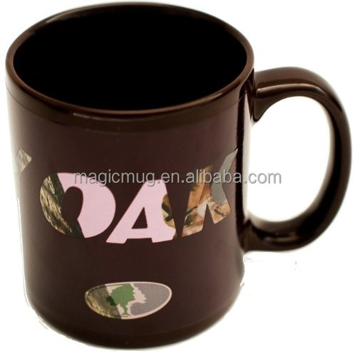 2015 Promotional Magic Color Changing Havercamp Mossy Oak Pink 11oz Camo Camouflage Changing Coffee Mug