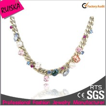 colorful crystal alloy chain little things wholesale jewelry necklace
