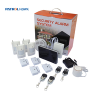 315/433 MHZ frequency auto dial smart gsm wireless home burglar security alarm system to 3 present cell phone numbers of alarm