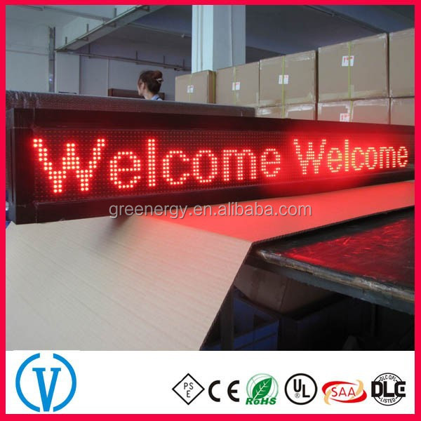 programmable single red color P10 led display sign manufactured from China