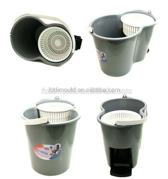 MOP Bucket mould ,plastic bucke mould 76pp/abs/pe mop bucket mould/molding