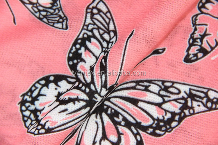 Manufacturer China Hot Design Poly Spun 100% Polyester Knit Printed Fabric