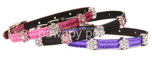 Sell Rhinestone flower Slider Pet Collars DIY Dog Collars