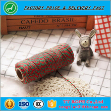 High quality colorful 100% cotton baker twine packing twine