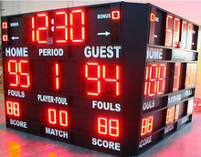 led 4-sided basketball scoreboard