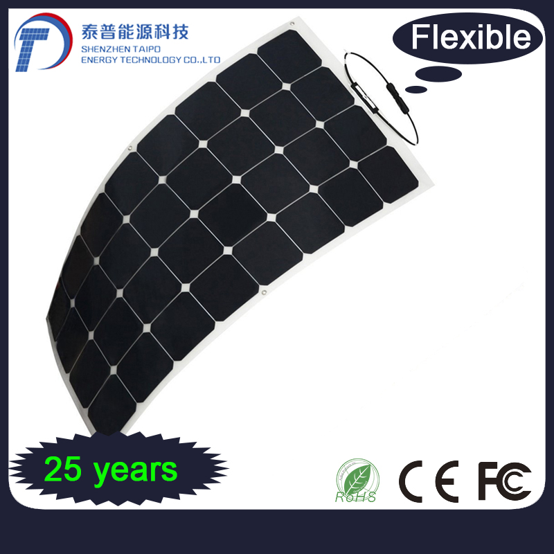 Alternative Energy 250W High Efficient Mono Semi Flexible Solar Panel