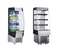 180L To 390L High Efficient Stainless Steel Glass Door Open Convenience Store Beverage Cooler With LED Lights