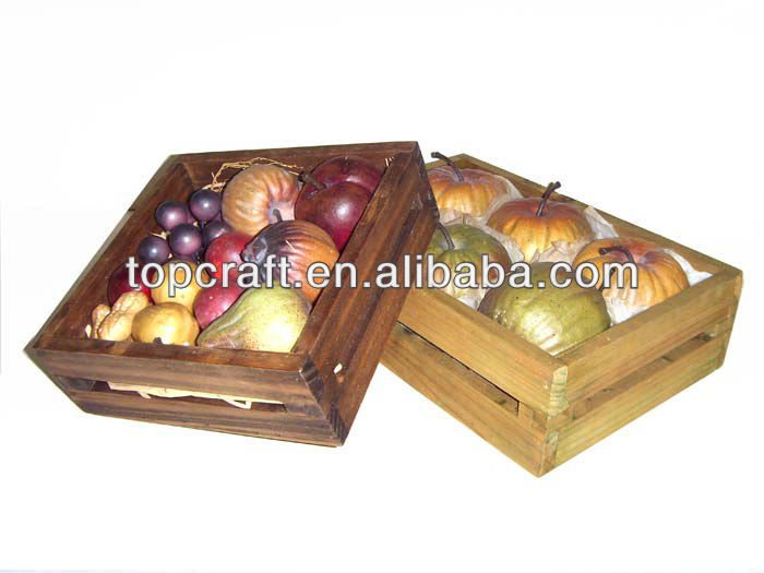 2013 natural vegetable wooden box crate wood fruit and veg for Buy wooden fruit crates