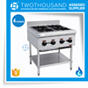 Stainless Steel Body Free Standing 4 Burner Gas Electric Hot Plate