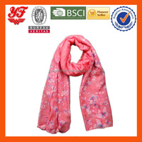 2016 Popular fashional Customized cheap Polyester voile Scarf for sales