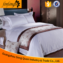 Song quan factory new 2016 100% cotton 4pcs which included 1 bed sheet 1 duvet cover ,2 pillow case, hotel bedding set king size
