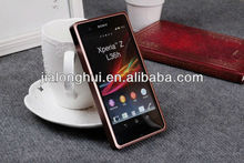 2013Hot selling fashion Aluminum Bumper Case for Sony Xperia Z L36h case