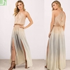 Wholesale fashion chiffon evening muslim maxi long dresses ladies custom long sleeves casual cocktail party dress