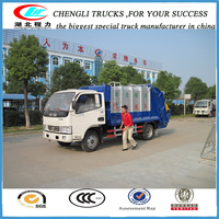 shock price 4m3 loading capacity garbage compactor truck