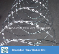 hot sales low price BTO-22 hot dipped galvanized razor barbed wire coil fencing