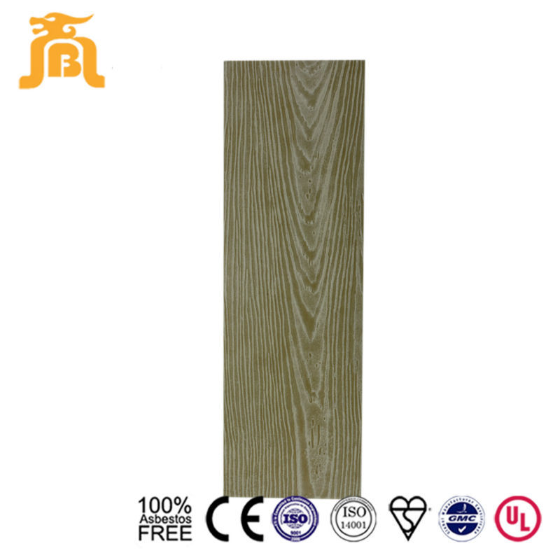 Olive green color ISO proved Wood grained Fiber Cement board siding