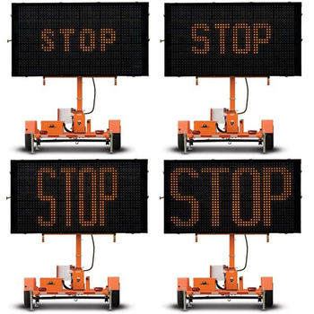 Mobile Variable Message Board Sign and Trailer Manufacturer , Graphic Display, Solar LED and Battery Powered WTMMB
