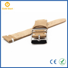 Custom Design Wide Leather Watch Strap Brown 20Mm