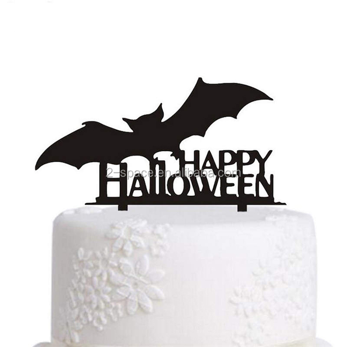 Perspex Happy Halloween Cake Topper Custom Acrylic Halloween Party Cake Decoration